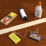 Materials needed to make a Mouse Trap Booby Trap